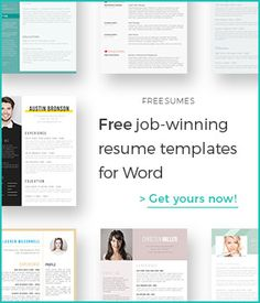 128 Best Free Resume Templates For Word images in 2019 | Free resume