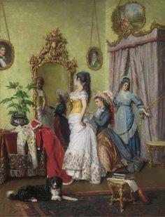 Charles Baugniet. Belgian Academic Painter (1814-1886)