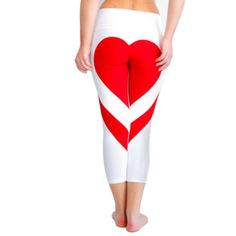 8596178b6cf47 Hot! Heart Shape Sexy Leggings Women New Red Black White Color Patchwork  Print  fashion