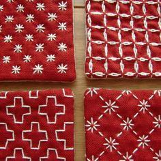 Risultati immagini per sashiko hokusai sea design Hand Embroidery Design Patterns, Hand Embroidery Dress, Hand Embroidery Tutorial, Flower Embroidery Designs, Folk Embroidery, Embroidery Supplies, Learn Embroidery, Japanese Embroidery, Hand Embroidery Stitches