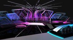 Entertainemnt design - Pemilihan Putri Indonesia (PPI on Behance Tv Set Design, Stand Design, Concert Stage Design, Virtual Studio, Stage Background, Restaurant Concept, Interior Rendering, Stage Decorations, Stage Set