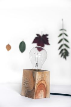 Driftwood Table Lamp. Reclaimed Wood Light. Scandinavian Design.