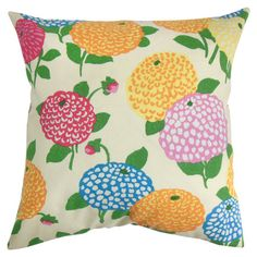 Add a pop of pattern to your sofa or patio bench with this chic indoor/outdoor pillow, offering a bold on-trend design.   Product: Pil...