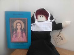 Rag Doll Nun Sister Marie with children's chapter book. $31.00, via Etsy.
