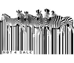 zebra bar code available to be printed on: T-shirt