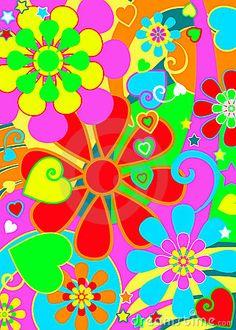 Hippie chic flower power