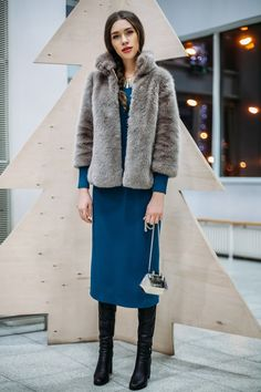 PURE FASHION | Katerina Dorokhova: ПЛАТЬЕ МИДИ С ШУБОЙ