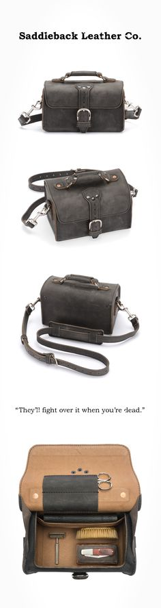 The Saddleback Leather Travel Case in Carbon   100 Year Warranty   $181.00