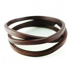 walnut bracelet by American designer Gustav Reyes.