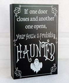 'If One Door Closes' Box Sign by Adams & Co. #zulily #zulilyfinds