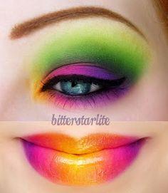 Crazy bold eyes & lips! I love it! (BitterStarlite Makeup: TARiffic Summer)