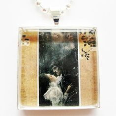 """Love by Gustav Klimt Glass Tile Pendant Necklace Classic Art Jewelry. $14.95. * Secure in a silver plated tray for a beautiful work of art to wear. * FREE silver colored ball chain size 24"""", which you can easily shorten to desired length. * Our original created image is sealed under a 3/16"""" thick piece of glass. Each pendant is it's own little piece of art. Please remove before showering or swimming since it can not be emersed in water, excessive water expsosure will damage the ..."""