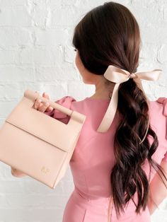 The Best Bags on the Block. Kawaii Hairstyles, Fancy Hairstyles, Best Acrylic Nails, Dress With Cardigan, Best Bags, New Bag, Pink Peonies, Pink Girl, Pretty In Pink
