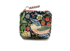 William Morris navy blue Strawberry Thief  by leahrosedesigns