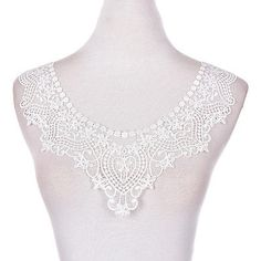 1PC-Embroidered-Floral-Lace-Neckline-Neck-Collar-Trim-Clothes-Sewing-Patch-10