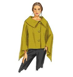 B5819 Butterick Schnittmuster Poncho Cape