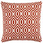 Sainsbury's Home Hinterland Orange Geo Woven Cushion 50x50cm