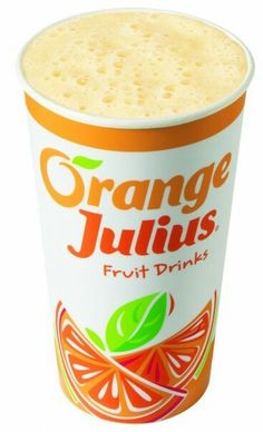 Delicious homemade orange julius recipe! 1 large serving: 1/2 cup orange juice + 1/8 cup, 1/2 cup milk, 3 spoonfuls vanilla ice cream, 2-3 spoonfuls tang mix, 2-3 spoonfuls powdered sugar,  splash of vanilla extract. Blend for 15-30 seconds.  Add about 1 cup of ice and blend for about 10 more seconds. Voila homemade orange julius.
