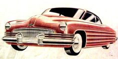 "Ref#	326 Date:	circa 1944 Artist:	Anonymous, dated ""2/1/44"" Make:	Buick Model:	Sedan Type:	Conceptual drawing Medium:	Colored pencil on paper Size:	11 x 20"