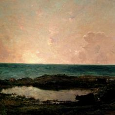 Sunset on the Coast at Villerville - Charles François Daubigny (1865)
