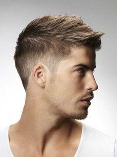 coiffure homme moderne cheveux marron,