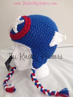 cc392c9d5ee Captain America Beanie pattern by The Knotty Hookers