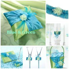 Get attention with this bold and colorful blue and green wedding collection!  www.ceceliasbestwishes.com