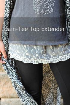 Shirt Extender Cream Lace perfect solution for shirts that are too short