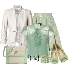 """""""Office Look - Mint Collection"""" by dimij on Polyvore"""