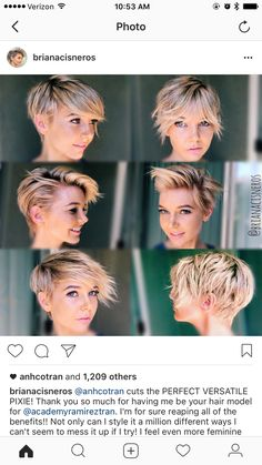 Tapered Pixie with Long Bangs - Pixie Haircuts With Bangs – 50 Terrific Tapers - The Trending Hairstyle Fancy Hairstyles, Pixie Hairstyles, Pixie Haircut, Celebrity Hairstyles, Pixie Cut With Long Bangs, Short Hair Cuts, Short Hair Styles, Pixie Long Bangs, Growing Out Pixie Cut