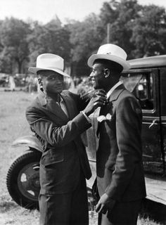 What happened to our men? We used to be a beautiful race of people and our men cared about themselves. What happened Black men? Dapper in Kansas, 1955.