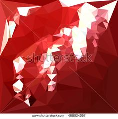 Low polygon style illustration of a coquelicot red abstract geometric background. #abstractbackground #lowpolygon #illustration