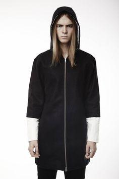 KHND STUDIOS Wool Jacket w/ Nappa Sleeves
