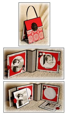 handmade photo card/frame ... handcrafted purse to hold it ... inspiration only no tutorial
