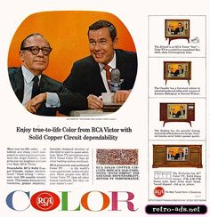 1965 RCA Victor Ad  A colorful RCA Victor TV ad featuring two of TV's biggest stars, Johnny Carson of the Tonight Show and funnyman Jack Benny.