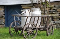 Melkespann står klare til melkespannkonkurransen