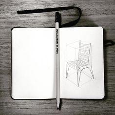 Croqui :-) #croqui arquitetura #cadeira #desenho #moleskine #draw #chair #casa45arquitetura