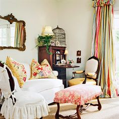 Cottage Looks: European Cottage Style. I don't like the curtains, but I like everything else.