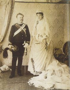 D. Carlos I King of Portugal and The Algarves wedding day with Queen Dona Amelia