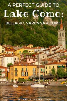 Traveling to Lake Como, Italy soon? This Lake Como Travel Guide includes everything you need to know for an amazing trip, including things to do in Lake Como, which towns to visit (Bellagio, Varenna, and Como), where to stay, which hotels are the best, where to eat, and more! While in Lake Como, you will be able to explore beautiful villas, go on boat rides, eat lots of gelato, drink wine, and enjoy the views. Here are our best Lake Como, Italy travel tips! via @travelalphas