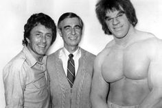 Mister Rogers took a field trip to the set of The Incredible Hulk.