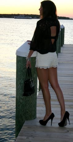 loveeeeee - I have been looking for white lace shorts all summer!!!