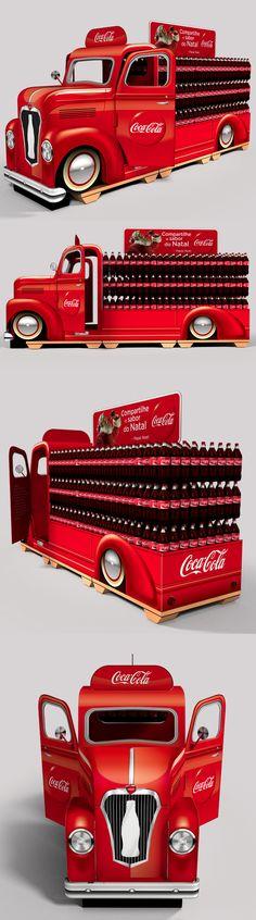 Caminhão Coca-Cola - Natal 2013 by Hugo Souza, via Behance
