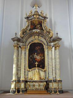 Maître-autel de église Saint Louis. Neuf-Brisach. Alsace