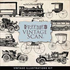 March 21, 2011 Kits   Far Far Hill: Freebies Vintage Transport Illustrations