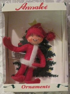 Annalee Red Elf Doll Christmas Ornament@Pennfoster #bemorefestive #choosetobemorefestive
