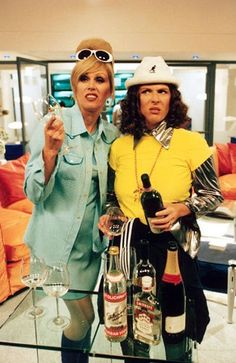 Myth: PRs are more than a bit like Eddie and Patsy from Ab Fab – it's all about lunches and pretentious arse kissing Jennifer Saunders, Patsy And Eddie, Edina Monsoon, Patsy Stone, Bbc, Joanna Lumley, British Comedy, British Humor, All Things Fabulous