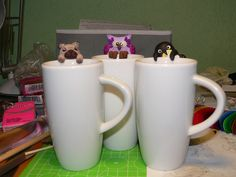 Polymer clay tea bag holders by Andrea Machler on Flickr