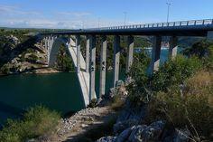 Bridge over river Krka near Skradin and Šibenik, Dalmatia, Croatia