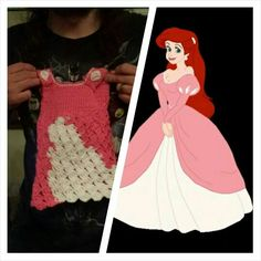 Ariel Dress didn't realize  i messed it up til it was finished but i know how to do it right hand crocheted $ 10 Alex Draven Designs on facebook and instagram